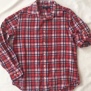 Flannel by Banana Republic in a red white and blue